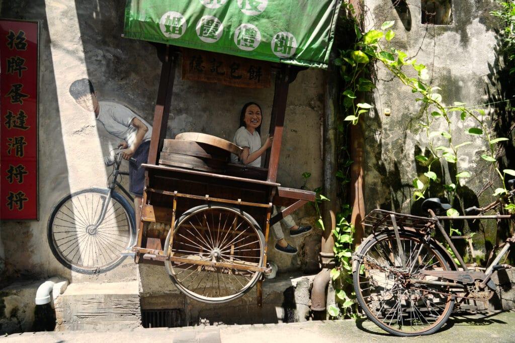 Straßenkunst in Georgetown Penang