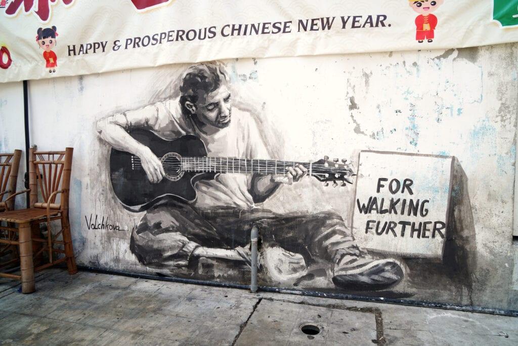 Straßenmusiker Love Lane