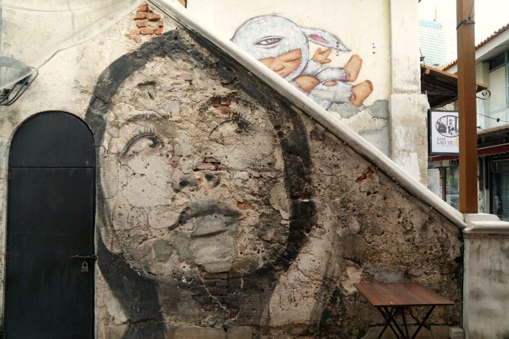 Streetart Frauengesicht von Rone in Georgetown