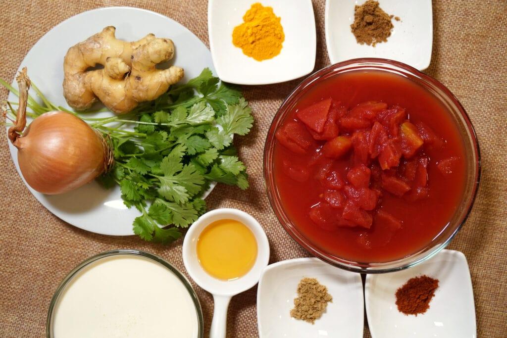 Zutaten Kofta Curry